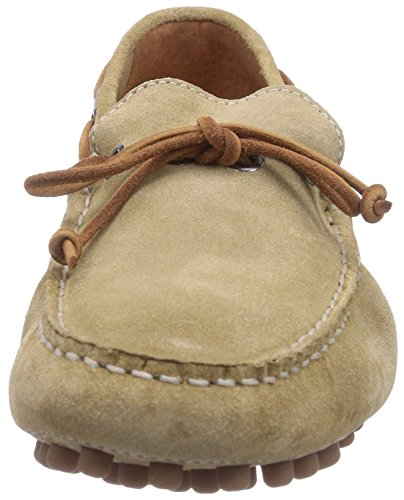 JACK & JONES JJCannes Suede Car Shoe White Pepper Herren Slipper Beige (White Pepper)