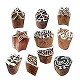 Royal Kraft Papier Holzdruck Traditionell Klein Tier Designs Blöcke Stempel (Set von 10)