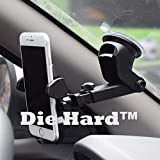 Die Hard [ Long Neck Car Mobile Holder ] - Premium (New Generation) Universal Car Mount | 360 Degree Rotation | With Anti-vibration Pads | Anti Shake Fall Prevention | 360 Degree Rotation | With Anti-vibration Pads | Die Hard 2018 Model Upgraded Car Stand