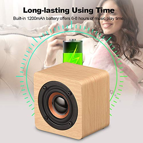 Bluetooth Lautsprecher,Yimiky Portable Wireless 4.2 Lautsprecher mit 10 Stunden Wiedergabezeit,HiFi-Subwoofer, Bass-Sound Funktioniert mit iPad, Samsung, Nexus, HTC, Laptops und mehr (Lichtfarbe)