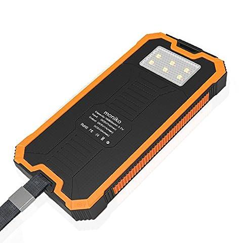 Chargeur De Secours Iphone - Batterie Externe 16000mAh Chargeur Solaire avec 2ports