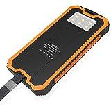 Cargador Solar, Moniko 16000 mAh Batería Externa Portátil, Doble Puerto USB, LED SOS, para móviles,tabletas, cámaras