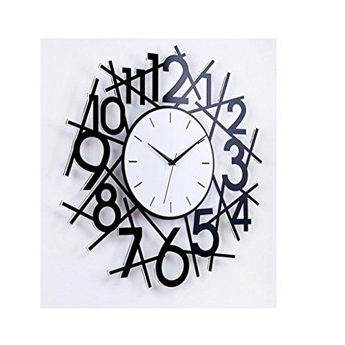 Pocket watch Schwarz Harz personalisierte Wanduhr Hause Wohnzimmer stumm Uhren 19,3 Zoll * 19,3 Zoll