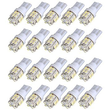 SODIAL(R) 20x T10 W5W 501 194 168 Voiture Blanche 20 SMD LED Interieur Lateral Lampe Cale Ampoule Lampe