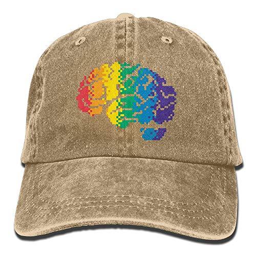 gorra cerebro de colores