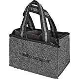 all-around24 Filz Herrentasche Bottlebag Herrenhandtasche