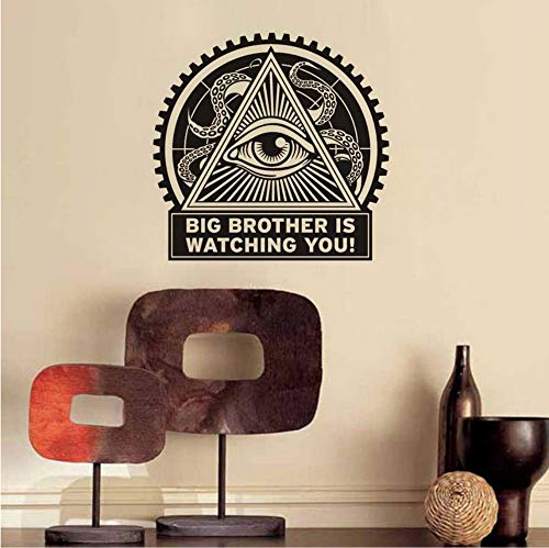 Big Brother ist gerade Sie Retro Wandaufkleber Selbstklebende Tapete Vinyl Aufkleber Für Wohnzimmer DIY Home Decoration 61x59 cm