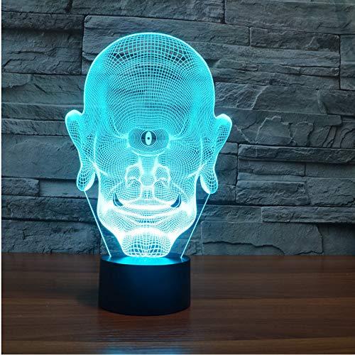 3D Nachtlichter 7 Farbwechsel Led Nachtlicht 3D One Eyed Riesen Tischlampe Kopf Porträt Usb Lampara Schlafzimmer Baby Schlaf Beleuchtung Für Kinder Geschenk