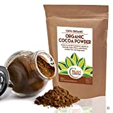 Cocoa powder, Organic vegan, dark chocolate ingredient, unsweetened, dairy free and ideal for baking, hot chocolate drinks and smoothies - 200g - By Nutri Superfoods