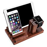 Apple Watch Stand,Multifunktions Version- Splaks Rosenholz Stand docking station Ladestation...