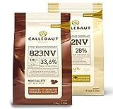Saver Bundle Callebaut, Milk & White chocolate chips (2 x...