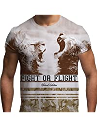 Tshirt Imprimé Partout Par Sublimation Tshirt Graphique Pour Hommes Lions Rugissants Tshirt 3D