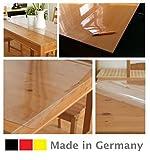 Ertex Transparent/Durchscihtig Tischfolie Schutzfolie Tischschutz Folie Tischdecke 2,5 mm B-WARE Lebensmittelecht (90 x 140 cm)