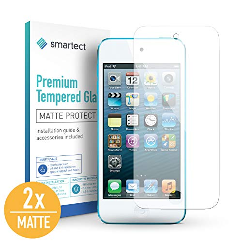 smartect Mattes Panzerglas für iPod Touch 7G / 6G / 5G [2X MATT] - Displayschutz mit 9H Härte - Blasenfreie Schutzfolie - Anti Fingerprint Panzerglasfolie Ipod Touch Screen Protector
