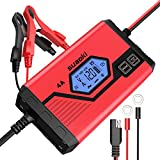 Suaoki - Cargador de Baterias Coche 4 Amp 6/12V, Mantenimiento Automático e Inteligente con...