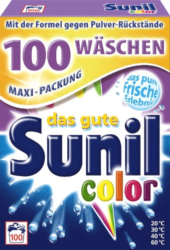 Die Aktive Faser-pulver (Sunil Waschmittel Colorwaschmittel Pulver für 100 Wäschen)