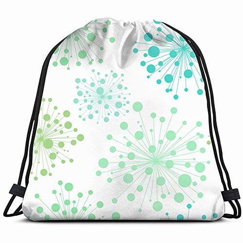 decorative flowers handdrawn template the arts floral Drawstring Backpack Gym Sack Lightweight Bag Water Resistant Gym Backpack for Women&Men for Sports,Travelling,Hiking,Camping,Shopping Yoga -