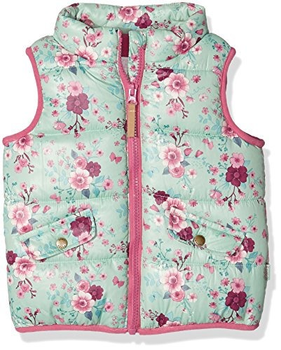 Pumpkin Patch Baby-Mädchen Weste Floral Puffer Vest, Green (Lichen), 0-3 Monate