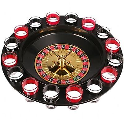 Trinkspiel Roulette aus Kunststoff,Inkl.16 Schna