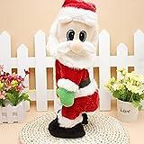 Christmas Elektrische Weihnachtsmann animated Musical Santa Claus Figuren Twisted Hip Dance singt lustig Electric Toy for Kids Dekorationen Geburtstag Geschenk Weihnachten