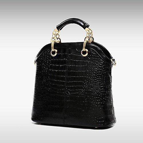 Longra donne di modo sacchetti semplici tre pezzi Nero