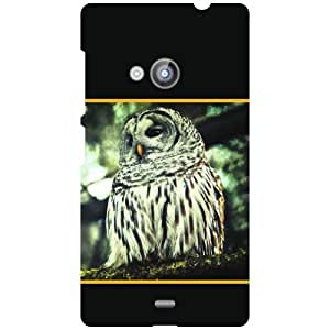 Nokia Lumia 535 Back Cover - Owled Eye Designer Cases