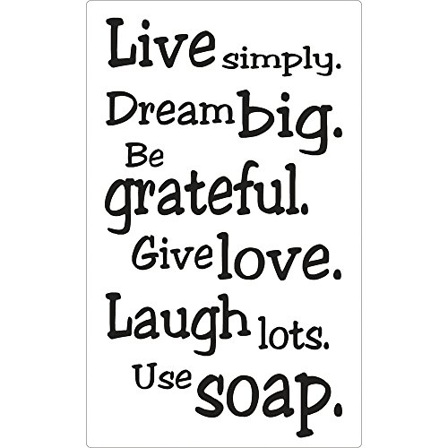 "RAYHER ""Live Simply..."" Soap Stamp, 11.5 x 8 cm"