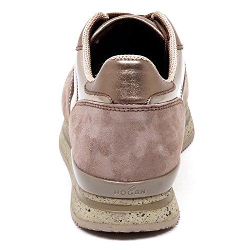 Hogan E0266 Sneaker Donna H222 Marrone Chiaro/Argilla Shoe Woman Marrone chiaro