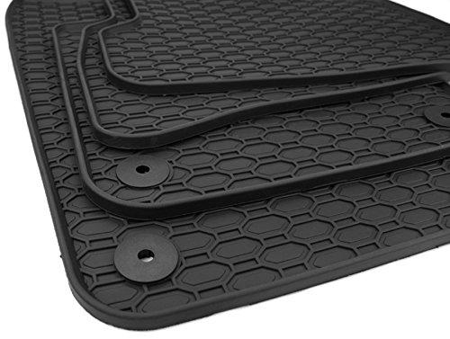 Nouveau. Tapis de sol en caoutchouc Tapis de sol caoutchouc qualité voiture d'origine toutes saisons 4 pièces Noir
