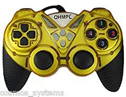 Quantum New USB Game Pad with Turbo Function + Bill Model QHM7487-2V-C