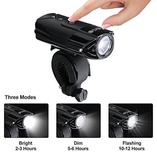 USB Recargable Luz de Bicicleta BIGO luz de La bici LED Impermeable linterna delantera para bicicletas 3 Modos De Iluminación  900 LM