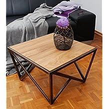 70 cm Wildeiche Massivholz MJC Couchtisch Olpe Stubentisch Wohnzimmertisch