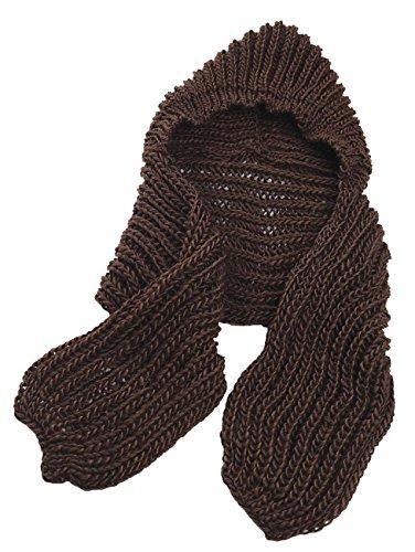 Unisex Einteiliger Kopf warmer Winter Schal und Mütze mit englischsprachiger Aufschrift