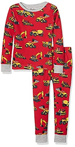 Hatley Jungen Organic Cotton Long Sleeve Printed Pyjama Set, Red
