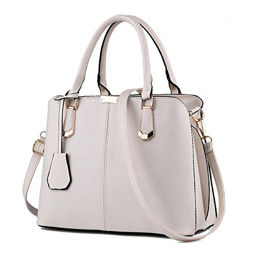 Ruiren Frauen Beiläufige Art Und Weisehandtaschen Crossbody Kurier Schulter Geldbeutel Taschen Schultaschen Einkaufen Handtasche Weiß