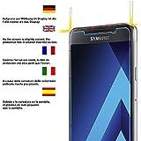 Acelive Samsung A5 2017 Schutzfolie, 2 Stück Gehärtetem Glas Panzerglas Displayschutzfolie Folie für Samsung Galaxy A5 2017(Bewusst Kleiner als Das Display, Da Dieses Gewölbt Ist