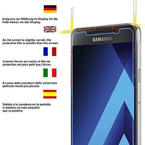Samsung A5 2017 Schutzfolie, Acelive 2 Stück Gehärtetem Glas Panzerglas Displayschutzfolie Folie für Samsung Galaxy A5 2017(Bewusst Kleiner Als Das Display, Da Dieses Gewölbt Ist
