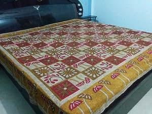DESI KALAKAAR 120 TC 100% Cotton Golden Reggae 1 Double Bedsheet