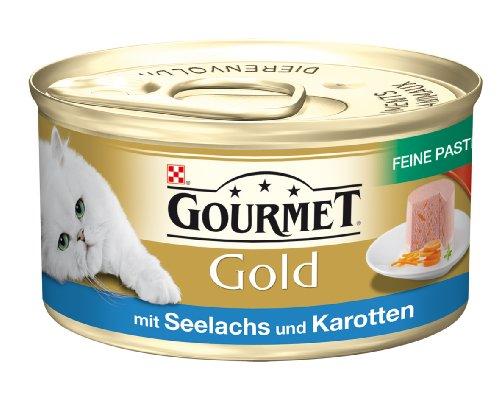Gourmet Gold - Katzenfutter mit Seelachs und Karotten - 85g