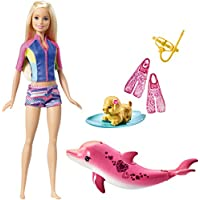 Barbie FBD63 Dolphin Magic Snorkel Fun Friends Doll