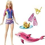 Picture Of Barbie FBD63 Dolphin Magic Snorkel Fun Friends Doll