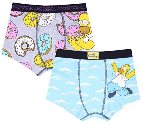 2X blau-graue Boxershorts Die Simpsons XX-Large