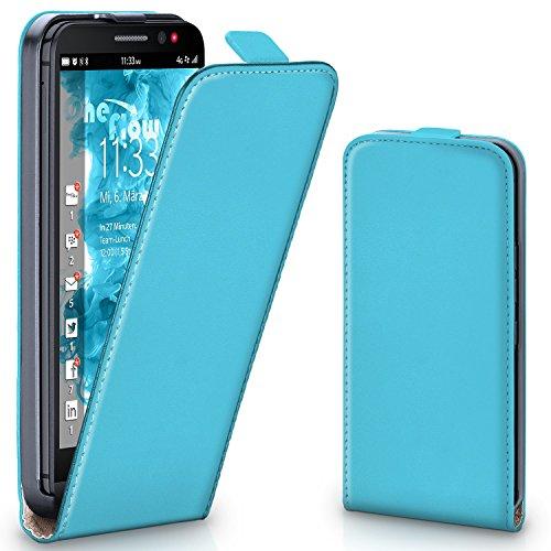 moex BlackBerry Z30   Hülle Türkis 360° Klapp-Hülle Etui Thin Handytasche Dünn Handyhülle für BlackBerry Z30 Case Flip Cover Schutzhülle Kunst-Leder Tasche