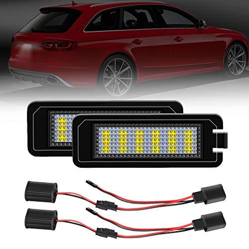 LED Kennzeichenbeleuchtung für Golf 4 5 6 7, Polo - TUAYAUTO Kennzeichen Led Nummernschildbeleuchtung