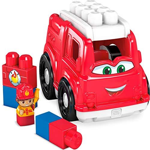 Mega Bloks Camión de Bomberos, juguete de construcción para niños +1 año (Mattel GCX09)
