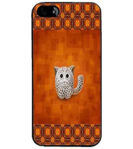 PrintDhaba Kitty D-2491 Back Case Cover for APPLE IPHONE 4 (Multi-Coloured)