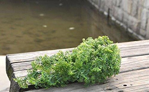 Jiale3536 fiori artificiali natale in plastica home chiesa spiaggia mobili arredamento cesto di appendere il muschio artificiale pianta di erba verde albero,verde