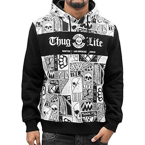Thug Life Herren Oberteile / Hoody Broon weiß 5XL