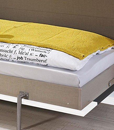 Schrankbett mit 90×200 Liegefläche in Weiß, Funktionsbett ist vertikal ausziehbar, Bett ist die perfekte Lösung für gesunden Schlaf in kleinen Räumen - 6
