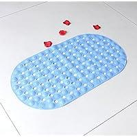 Sala da bagno antiscivolo in pvc tappeto bagno con vasca doccia con massaggio al piede con tappetino a depressione ,D03 ,68*38 vera luce blu